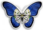 Beautiful Butterfly With Yorkshire Rose York County Flag Vinyl Car Sticker 130x90mm